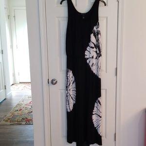 Inc black and white maxi dress 1x